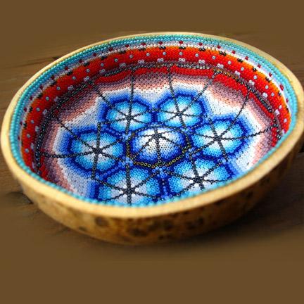 Huichol Bead Art – Beaded Bowl Making - Huichol art online